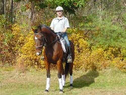 Brian McCormick on his thoroughbred gelding, Hendrick!