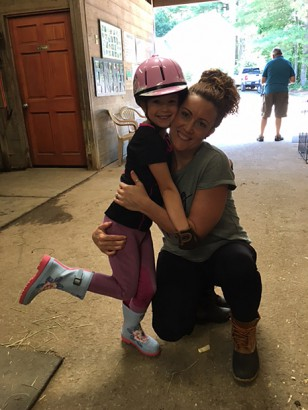 Some mothers enjoy riding with their daughters!... like Kendra & Ella!
